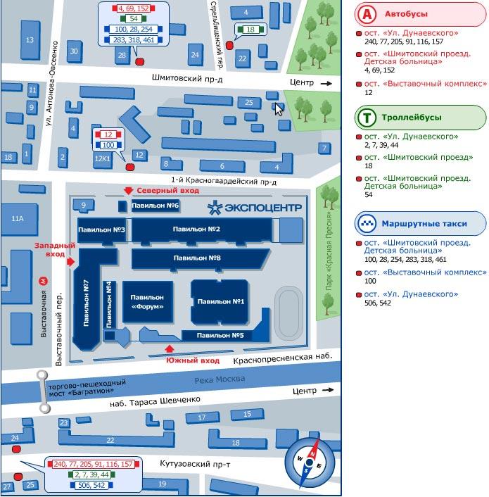 Схема проезда до ОБУВЬ МИР КОЖИ 2012